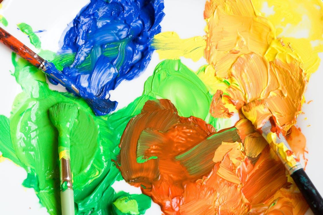 artystyczny, farba, jasny