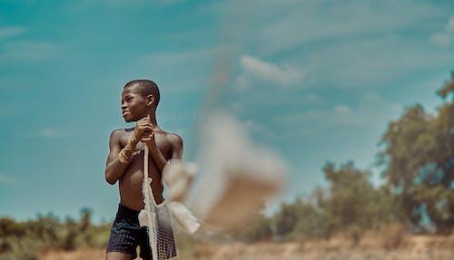 アフリカの少年, キャストネット, スマイル, ハッピーの無料の写真素材