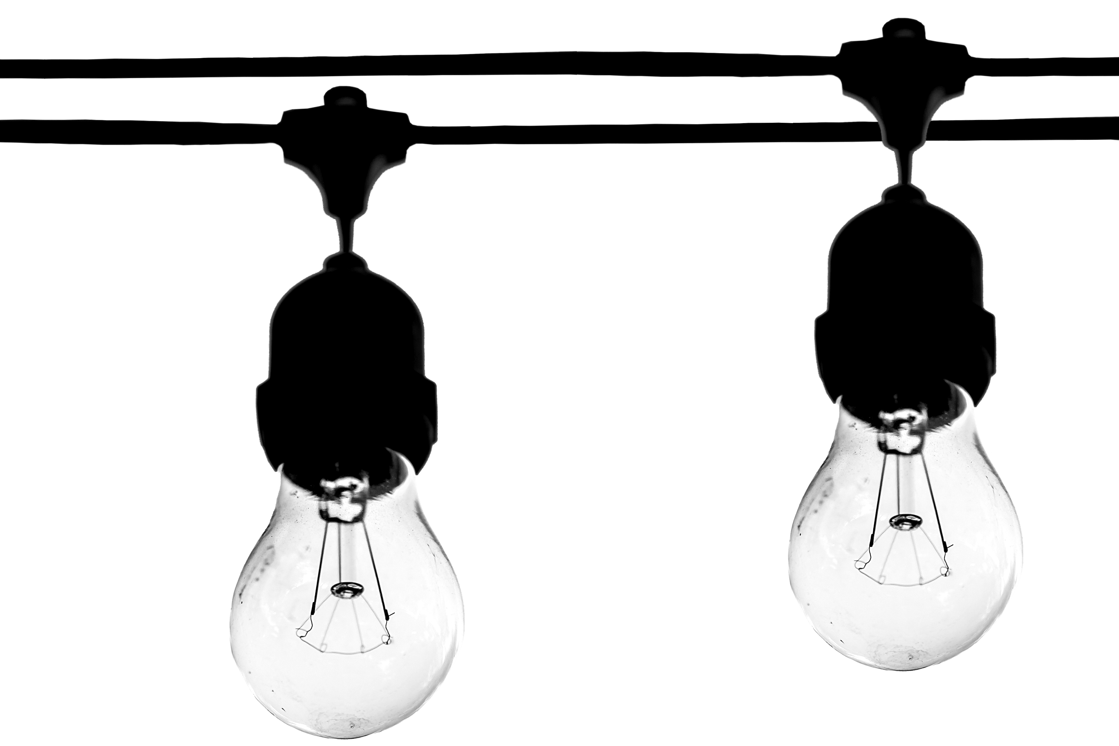 Two Lighted Bulbs