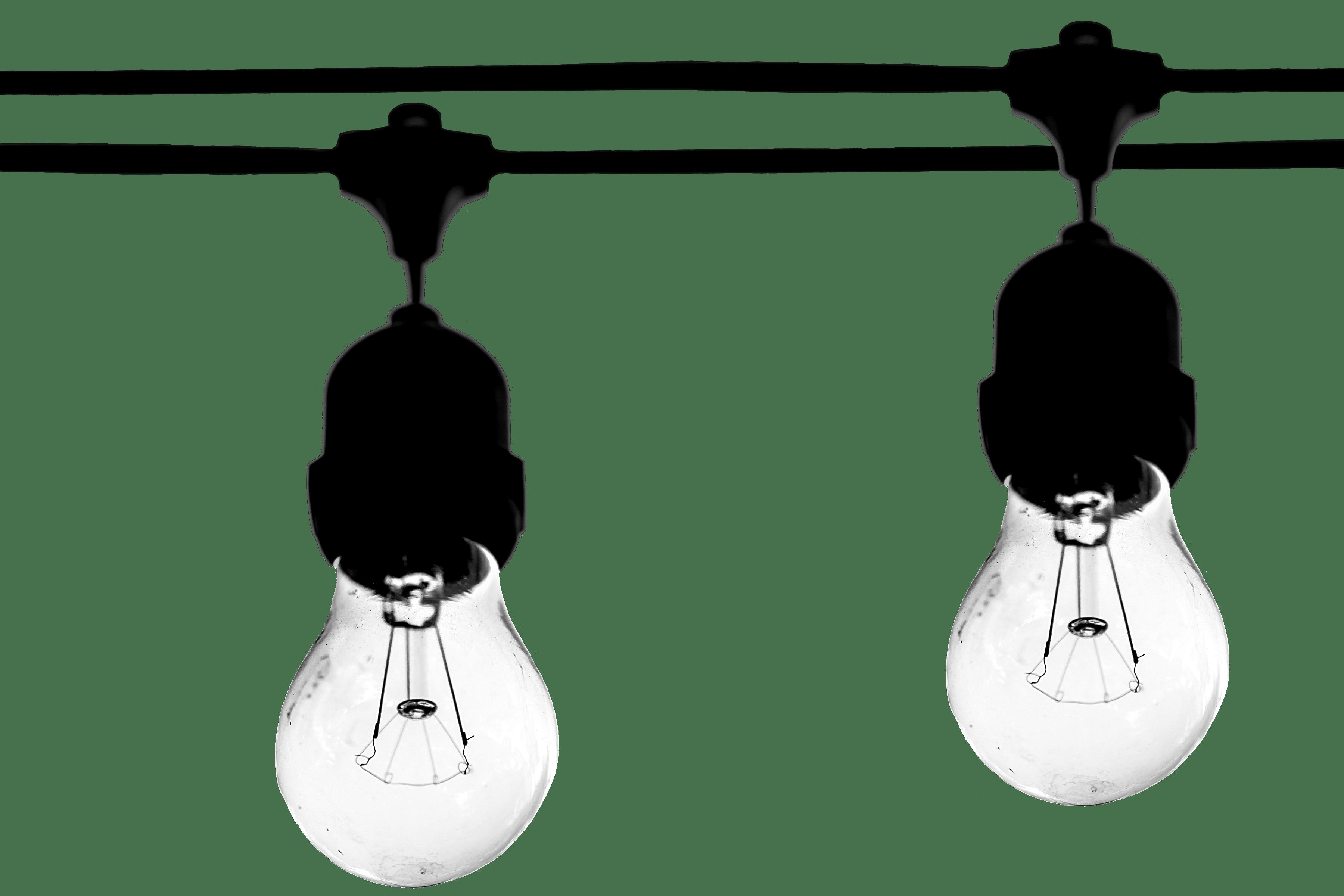 Two Lighted Bulbs