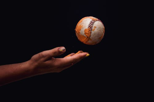 Foto stok gratis background hitam, baseball, berantakan, bisbol