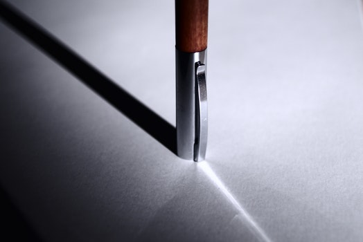 Free stock photo of art, pen, abstract, table