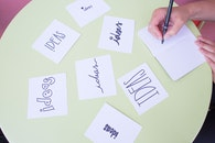 creative, hand, desk