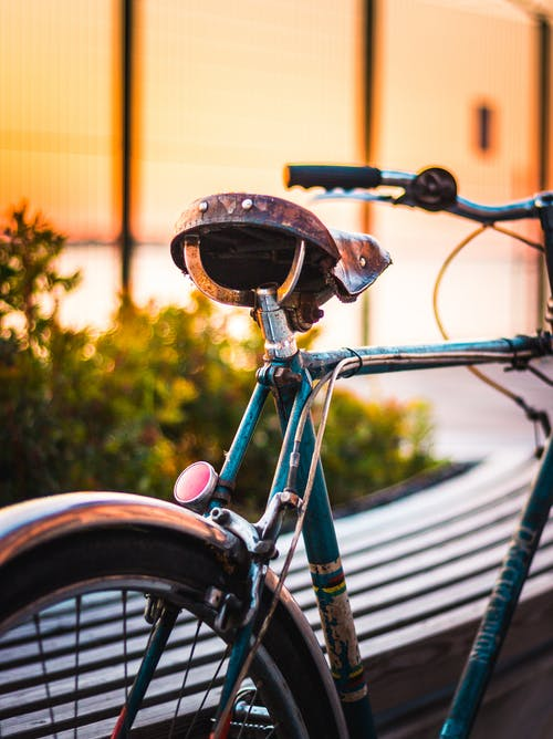 Free stock photo of bicycle, bike, Blue bike, hippie
