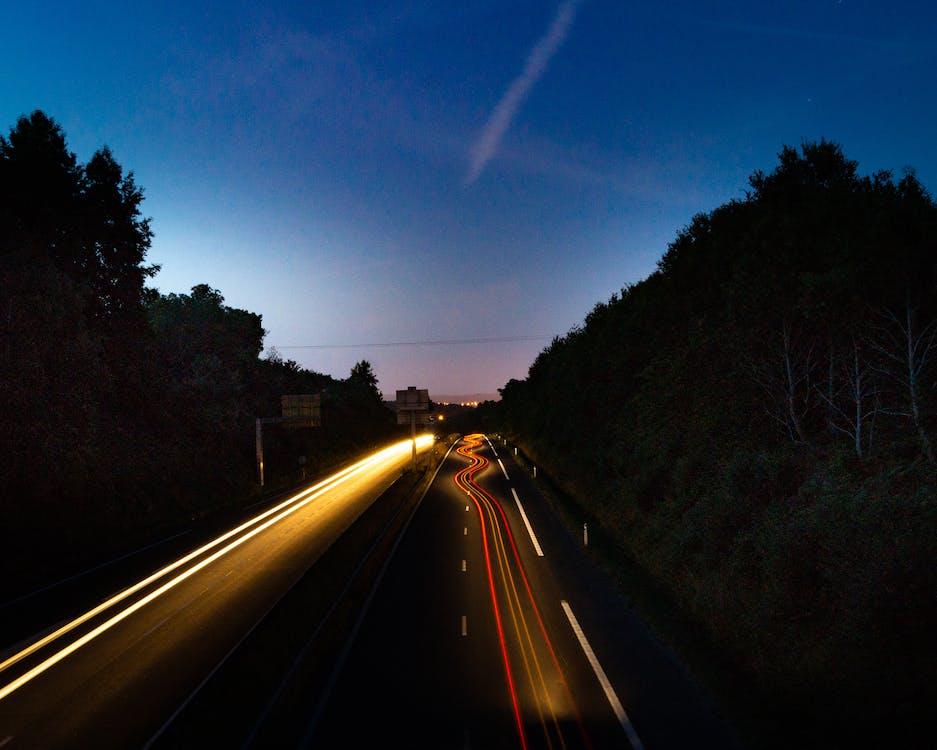 거리, 경치, 고속도로