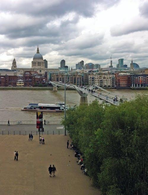 Fotobanka sbezplatnými fotkami na tému katedrála sv. pavla, Londýn, moderné, rieka Temža