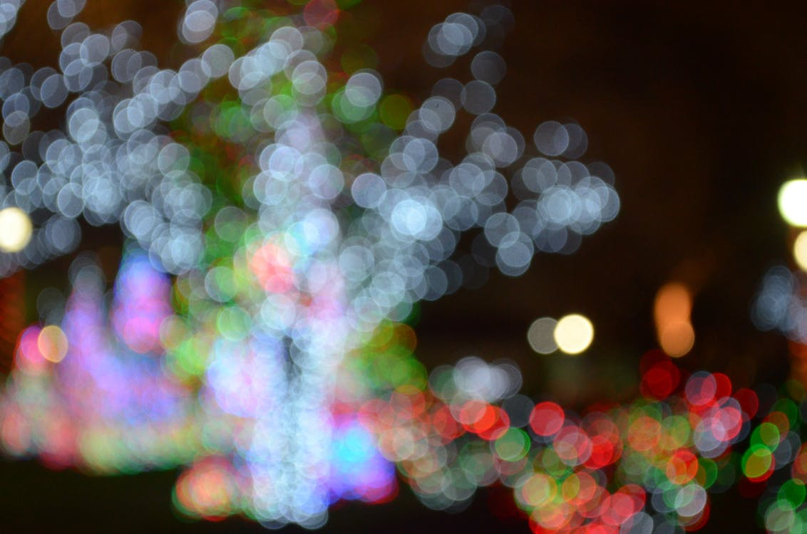 Multicolored Bokeh Light Photography