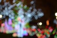 lights, bokeh, blurred