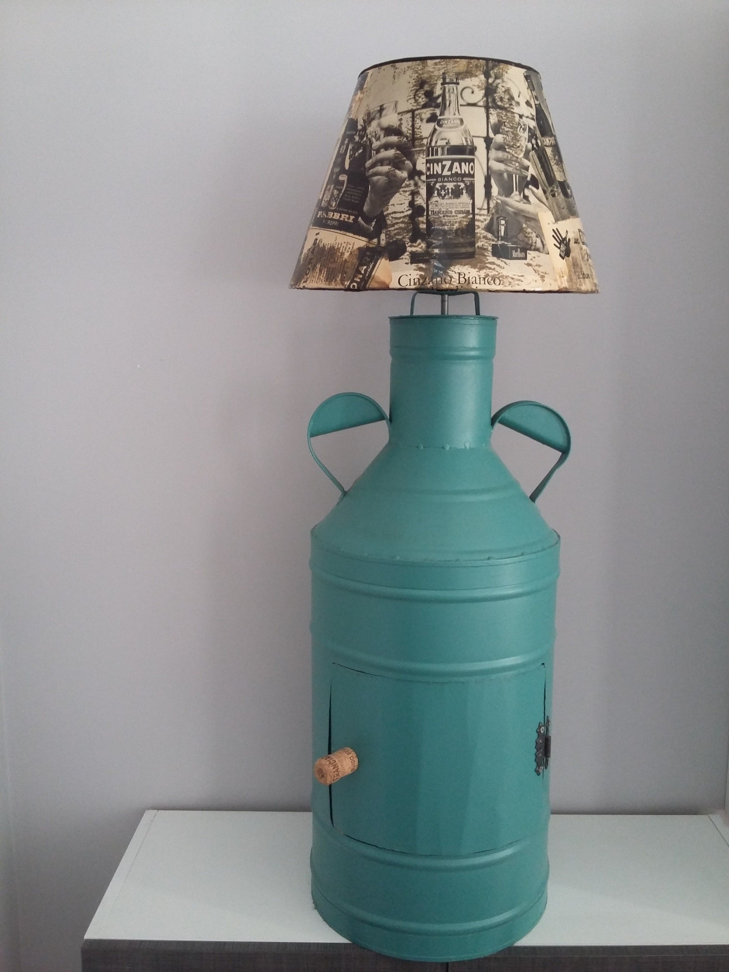 Free stock photo of antique oil container, decoupage, idea, lamp