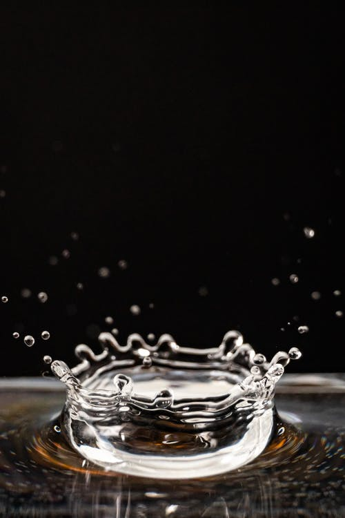aigua, deixar anar, esquitxada