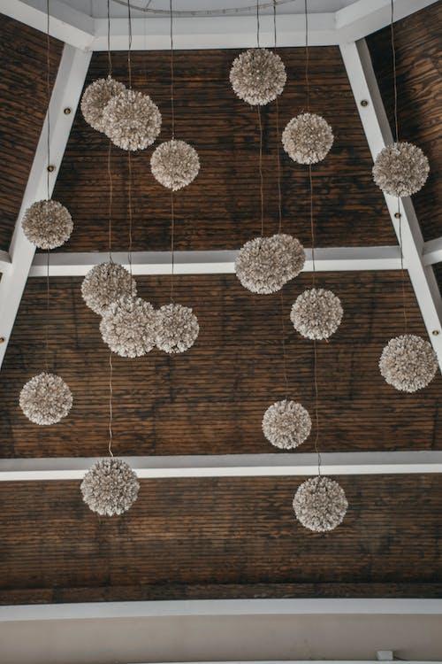 đèn treo, gỗ, mái nhà