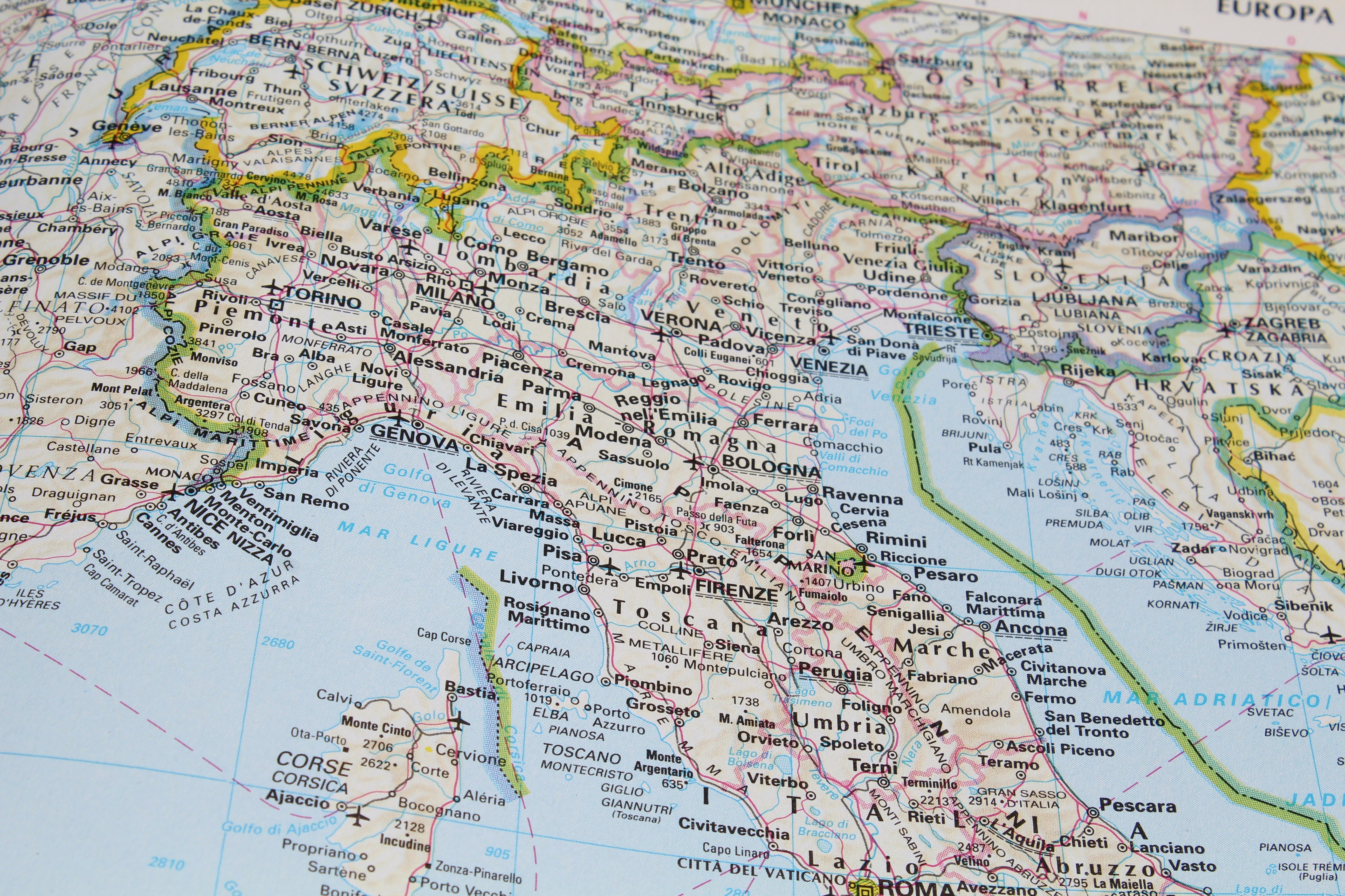 Free Map Of Italy.Free Stock Photo Of Central And Northern Italy Geography Graphics