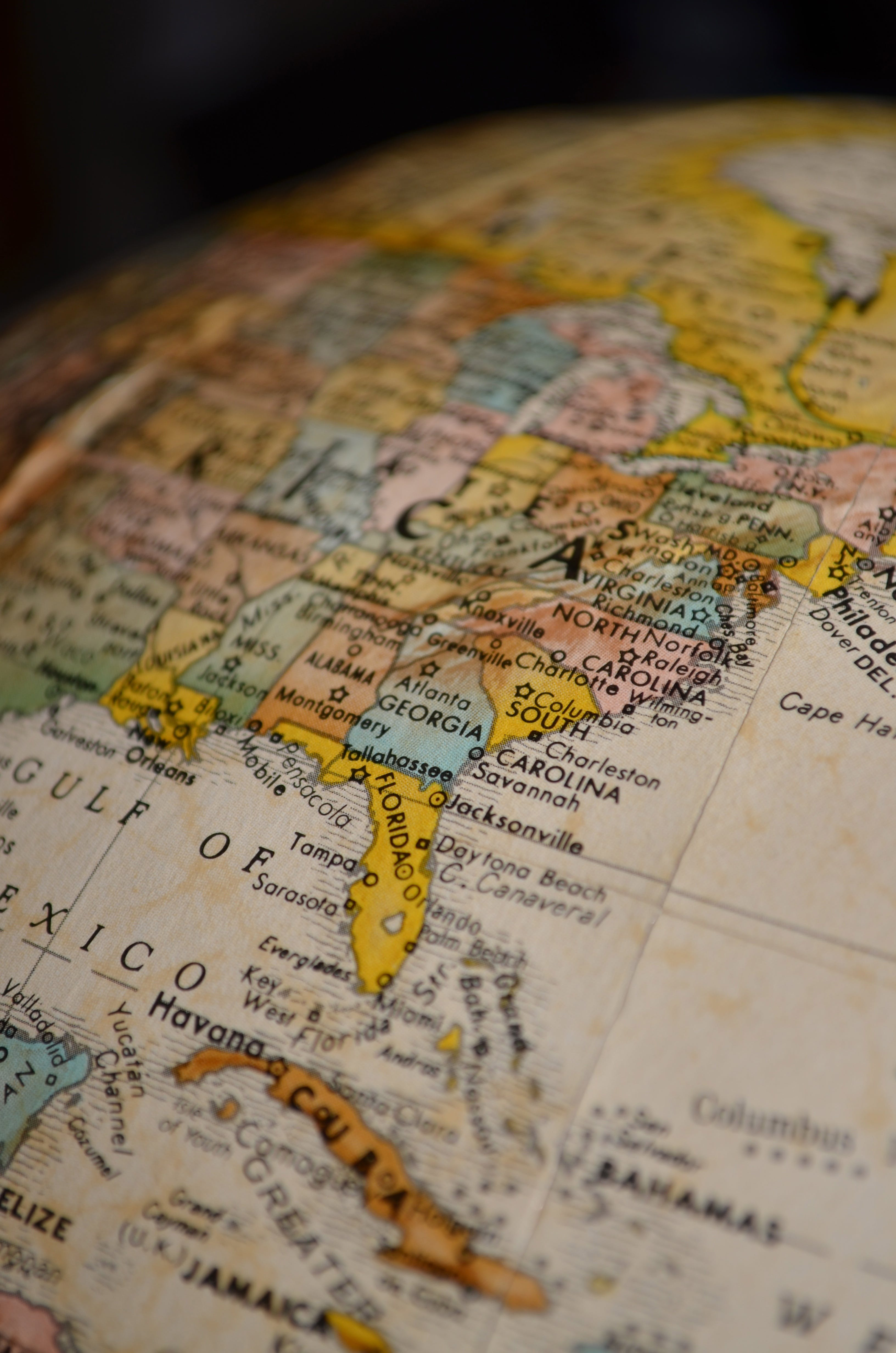 Free stock photo of america, globe, map, north america map