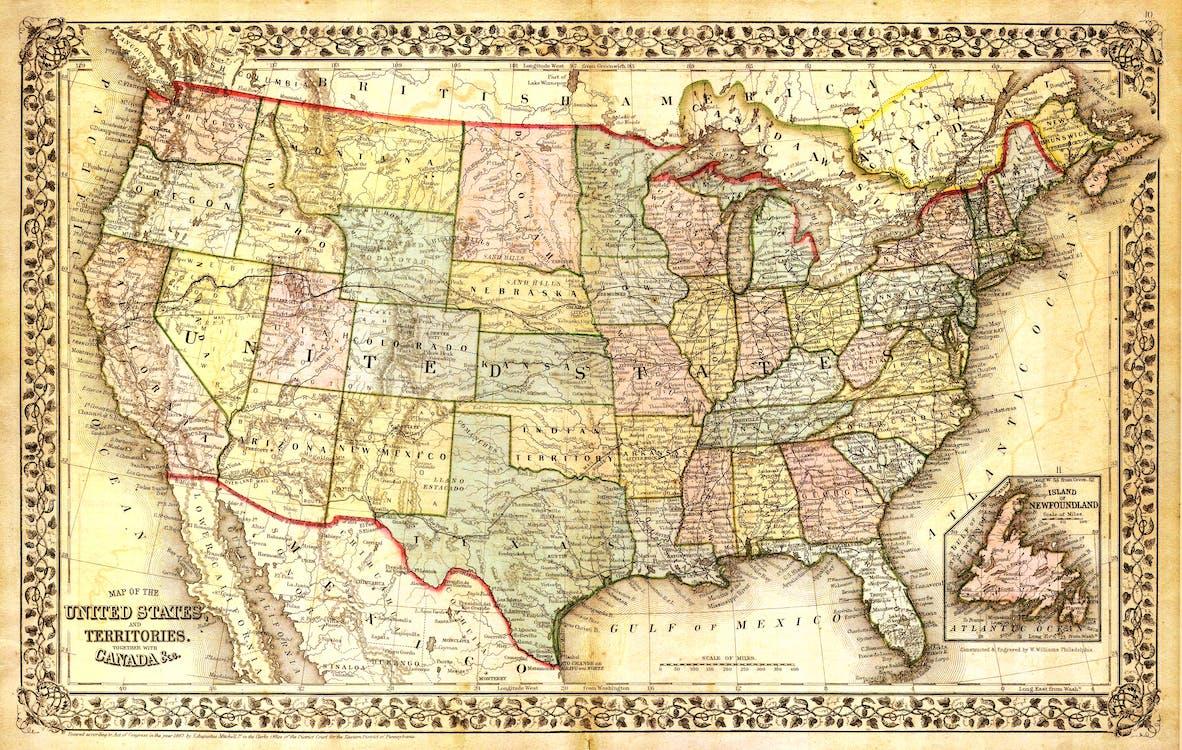 geografia, kontinent, krajina