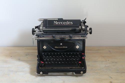 復古打字機, 打字機, 空的, 賓士 的 免费素材照片