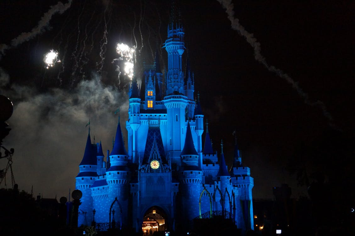 castle, children, disney