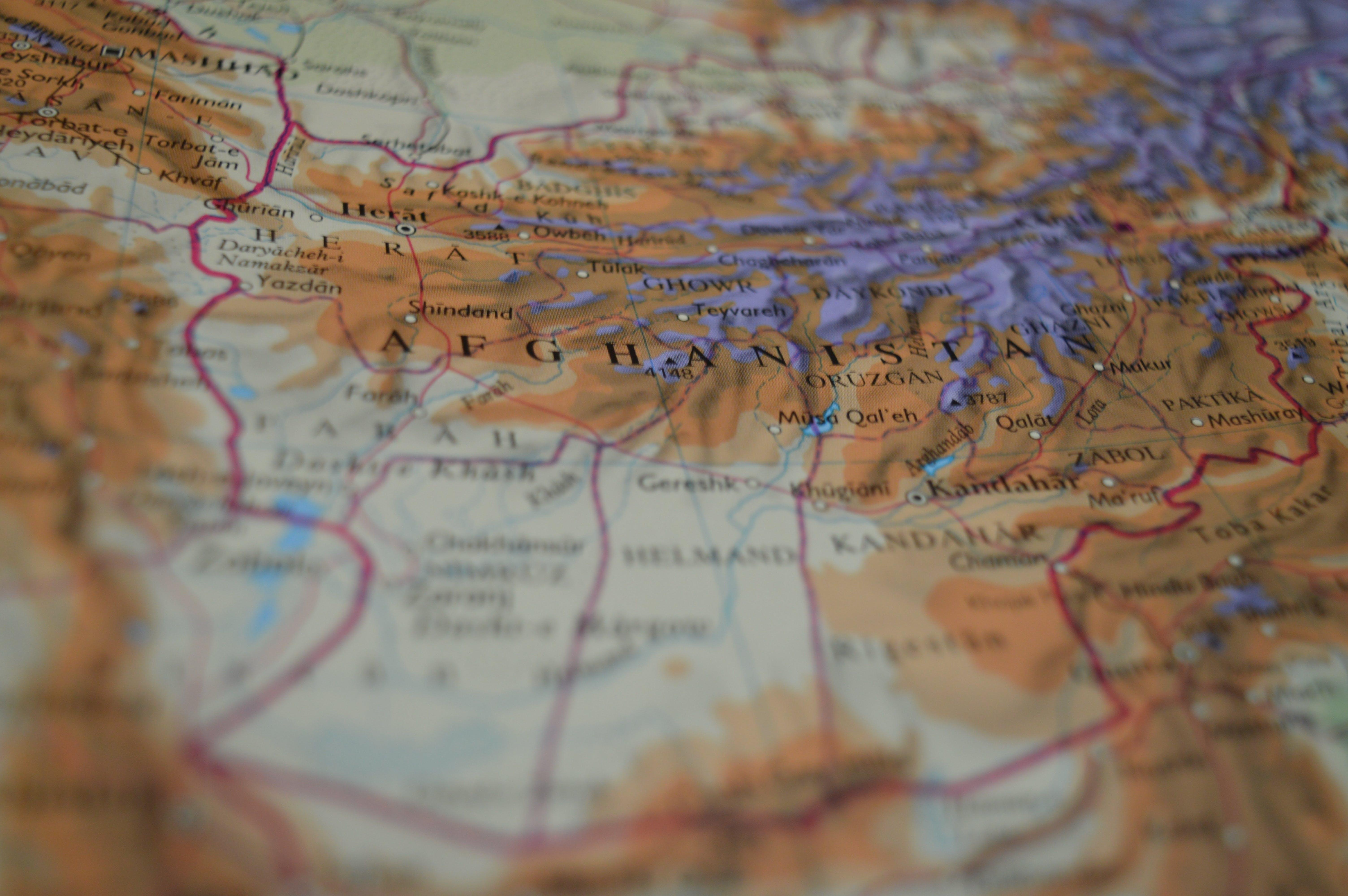 Free stock photo of travel, asia, border, map