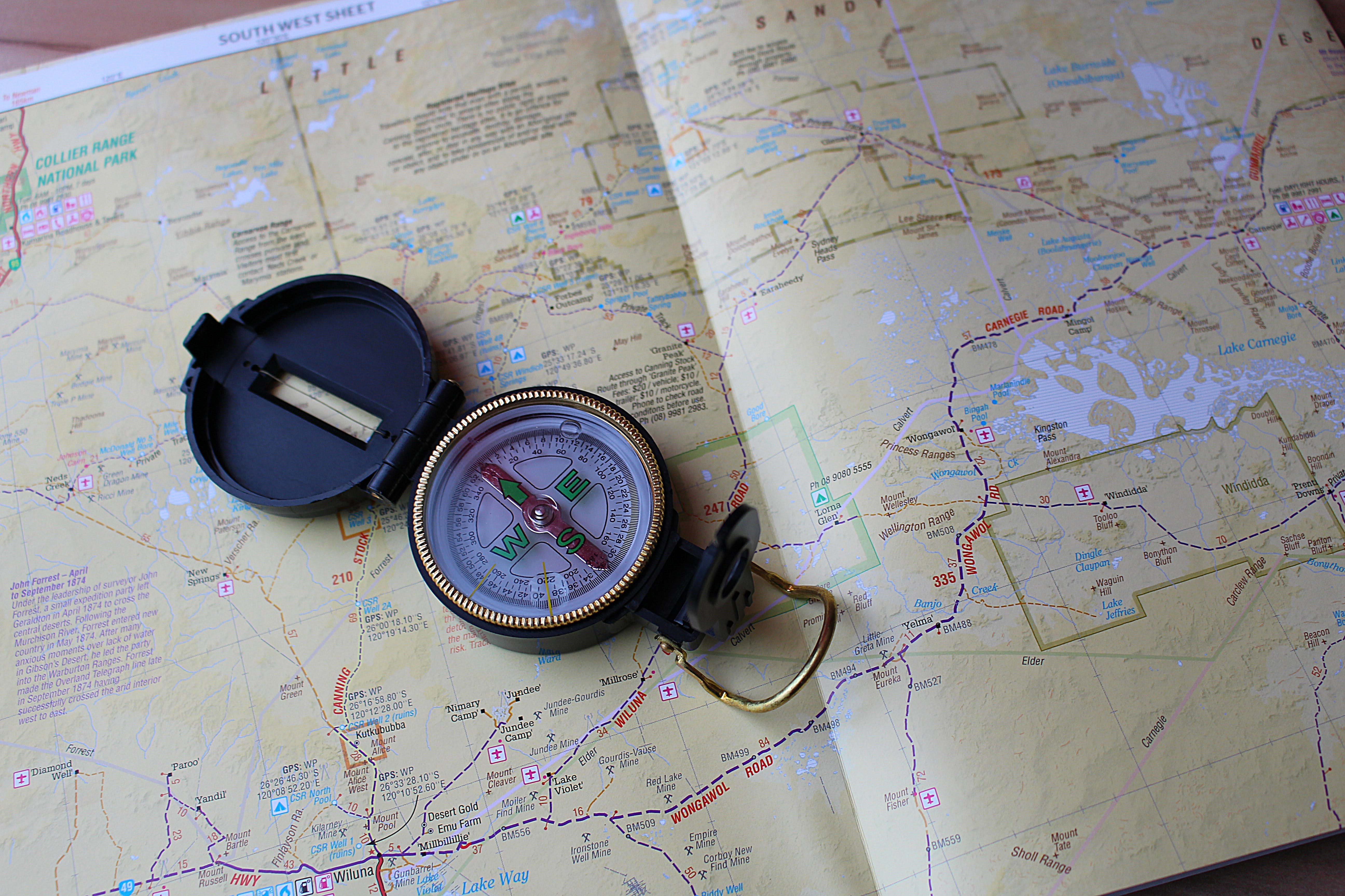 Free stock photo of compass, map, navigation, Western Australia