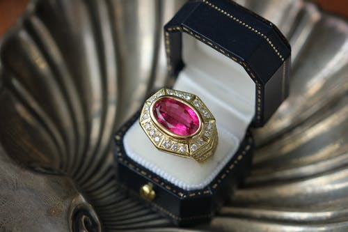 Close-Up Photo Of Golden Ring