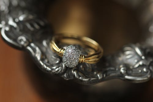 Macro Photo Of Golden Ring