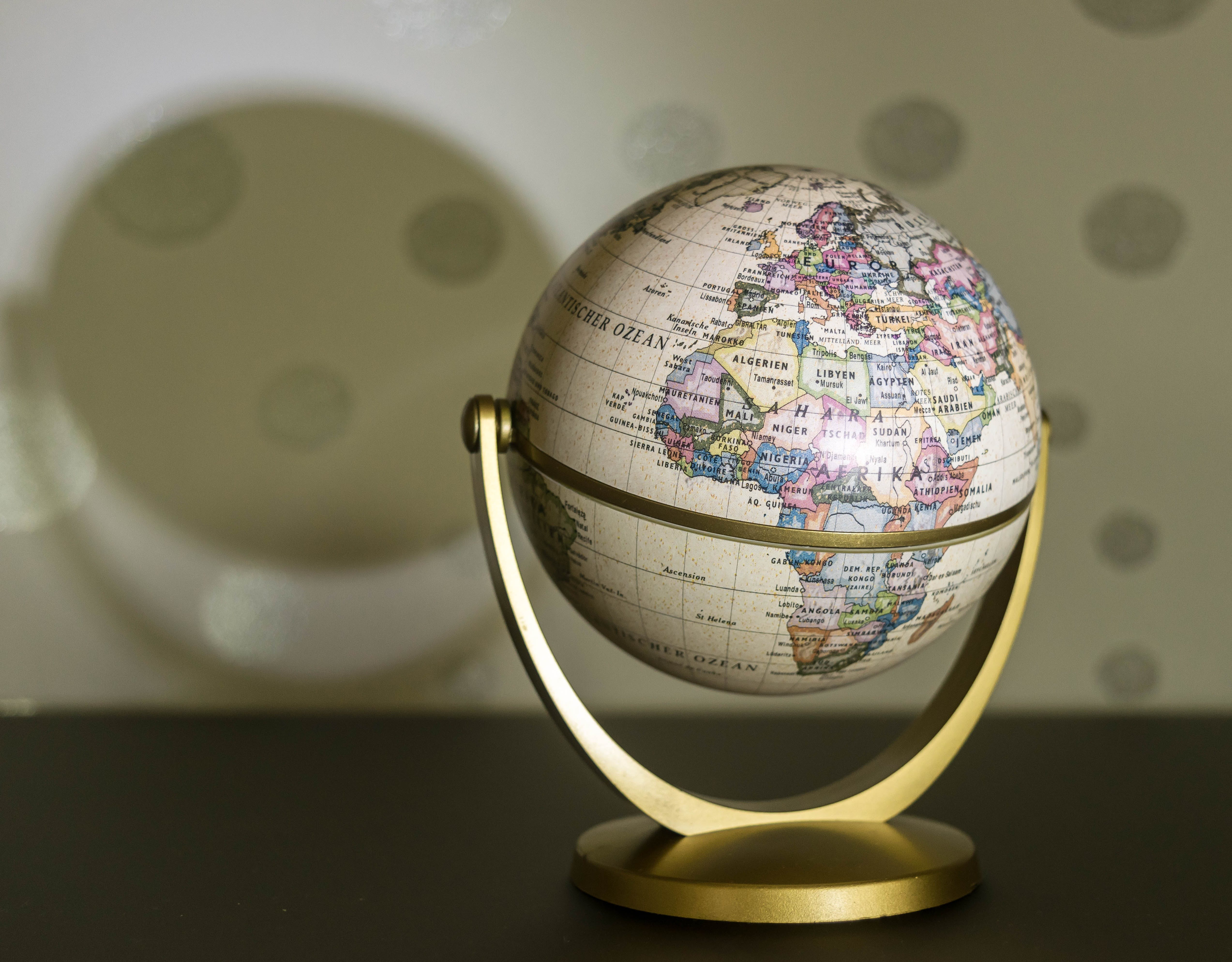 Multicolored Desk Globe