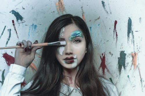 Gratis stockfoto met creativiteit, facepaint, fashion, fotomodel