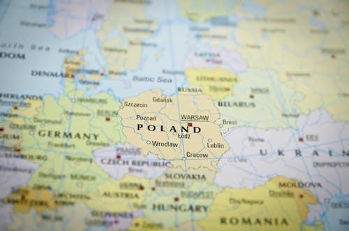 Ảnh lưu trữ miễn phí về Ba Lan, bản đồ, lục địa, Nơi Đến