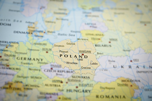 Free stock photo of travel, map, country, poland