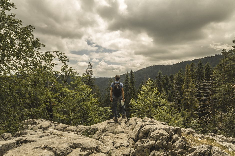adventure, backpack, clouds