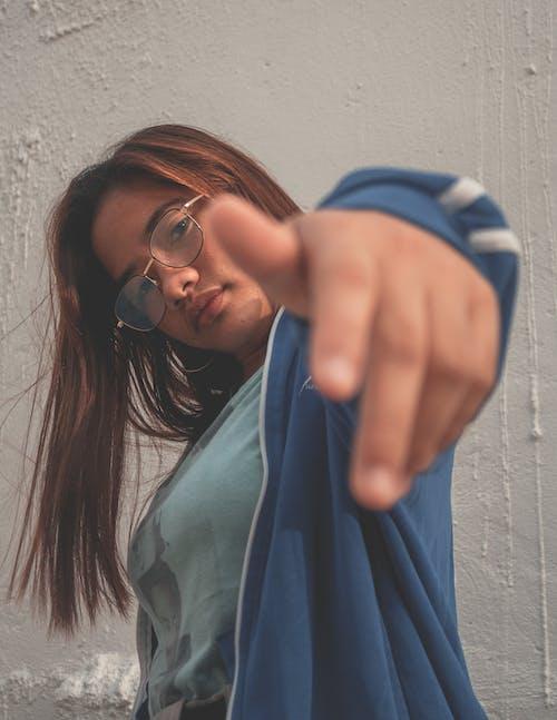 Free stock photo of asian girl, asian woman, blue, portrait