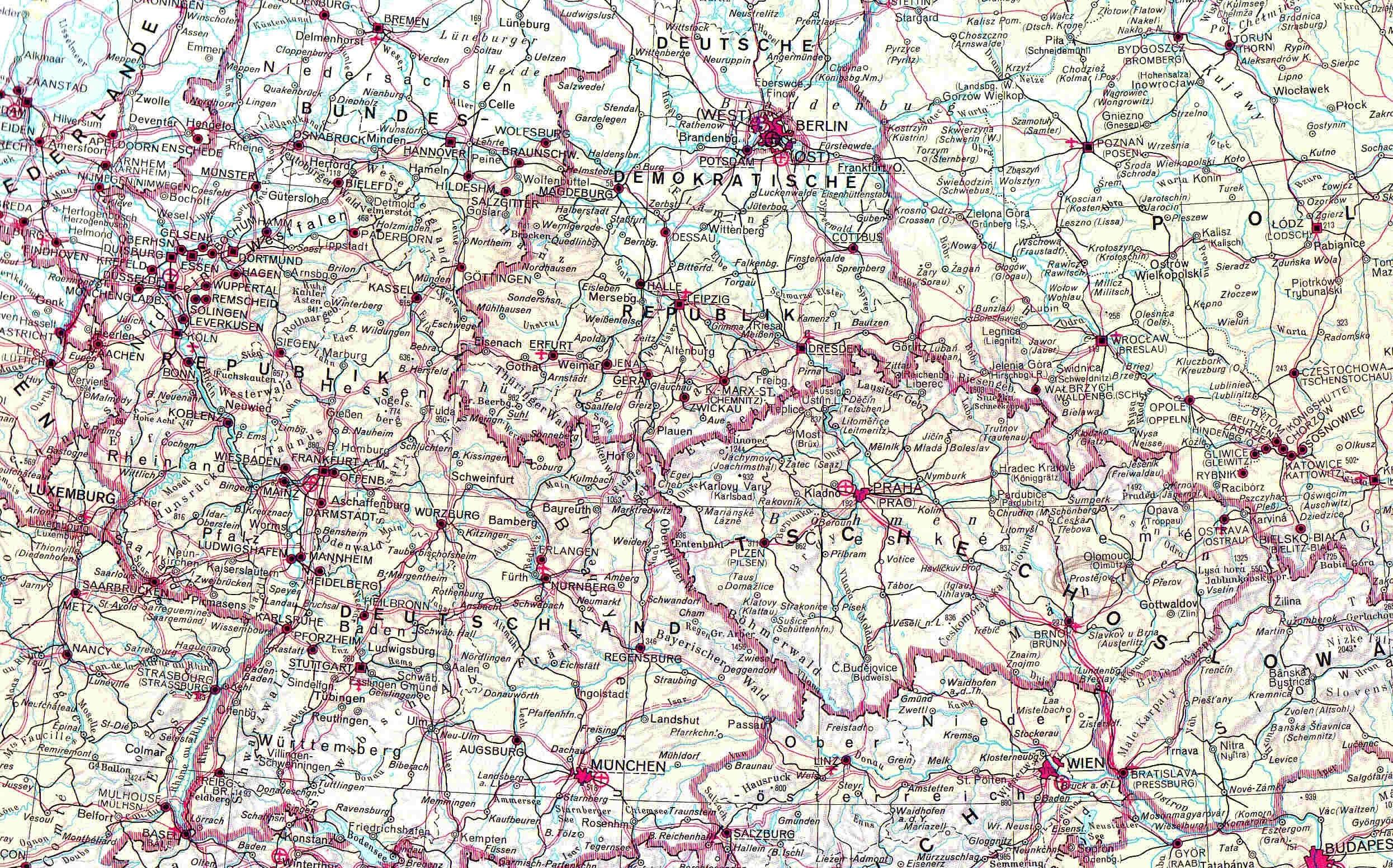 Gratis Arkivbilde Av Europa Kart Osterrike