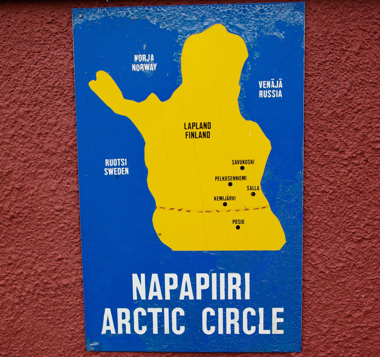 Free stock photo of arctic circle, lapland, map