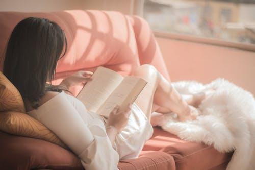 Free stock photo of beautiful, book, girl, legs