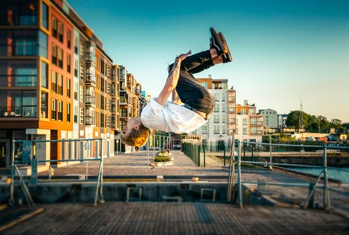 Free stock photo of backflip, boat, boy, extreme