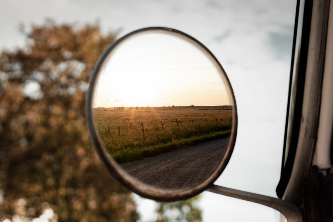 Round Vehicle Side Mirror