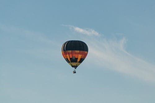 Green, Orange, and Yellow Hot Air Balloon