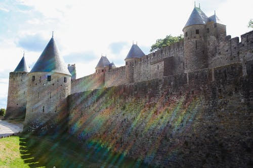 Free stock photo of castle, colors, rainbow