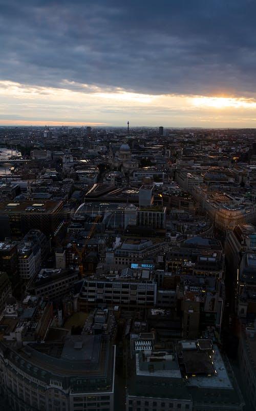 Free stock photo of big city, bird view, city, city view