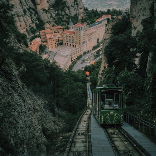 Green Tram on Mountain