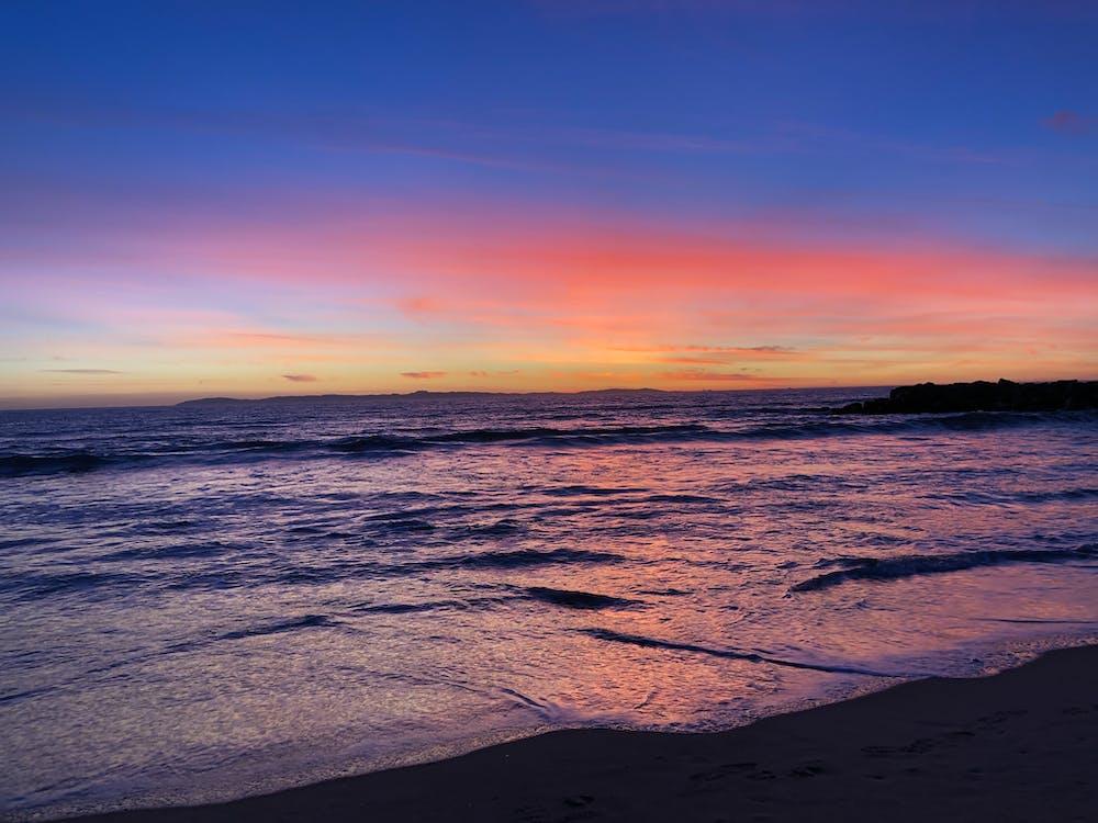 #LA, beach, Beautiful sunset