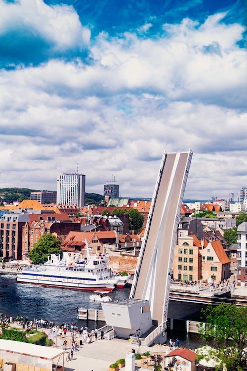 Free stock photo of boardwalk, bridge, city sky, clouds