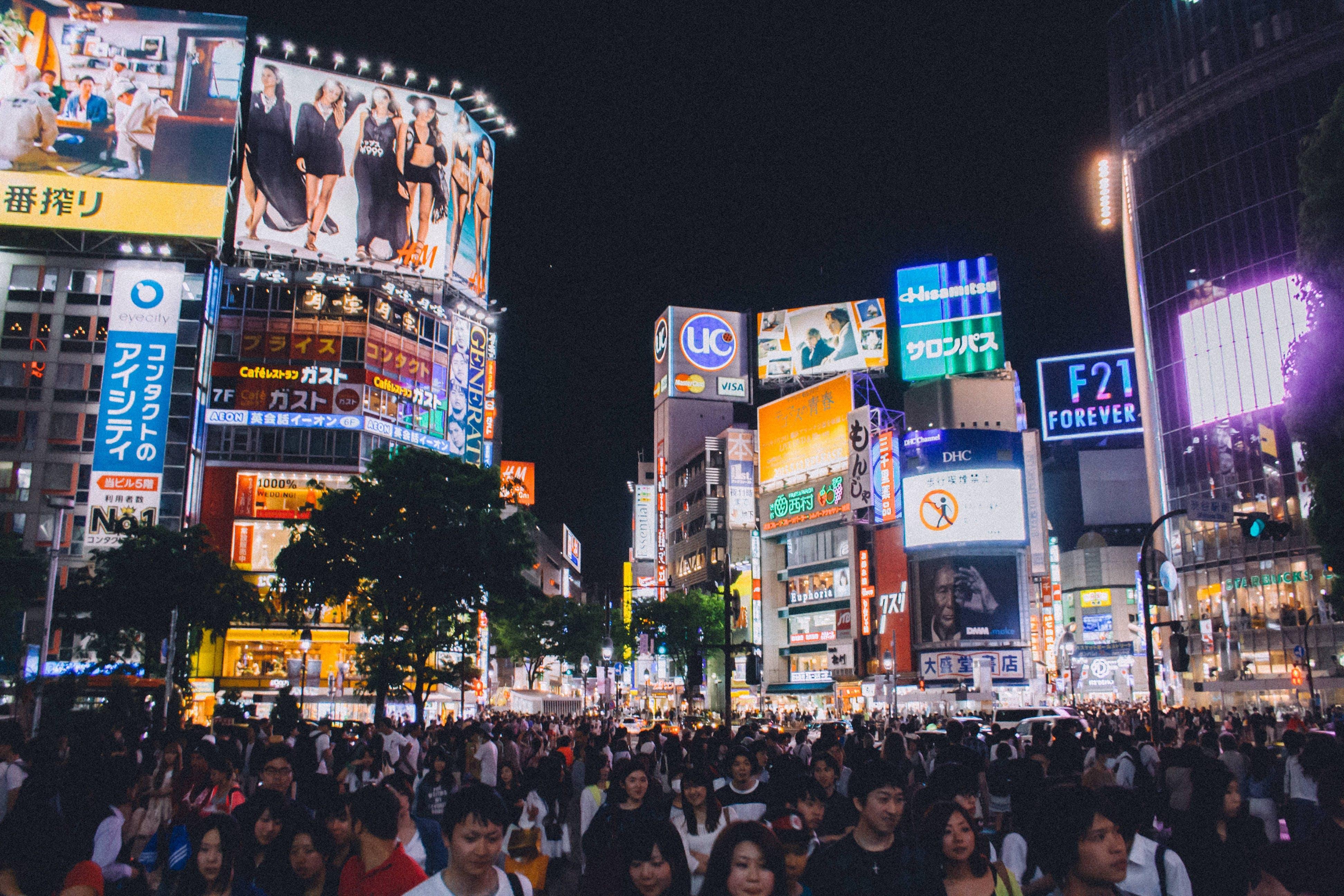Free stock photo of city, traffic, people, lights