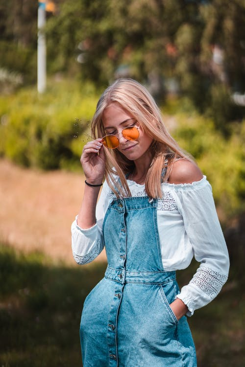 Free stock photo of beautiful girl, blond, sunglasses
