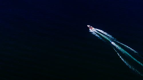 Free stock photo of aerial, boat, river, tubing