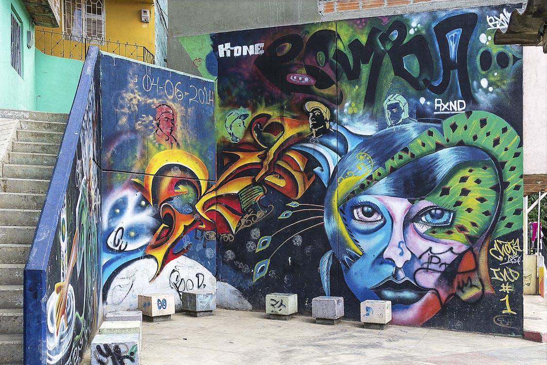 Imagine de stoc gratuită din artă stradală, graffit background, graffiti