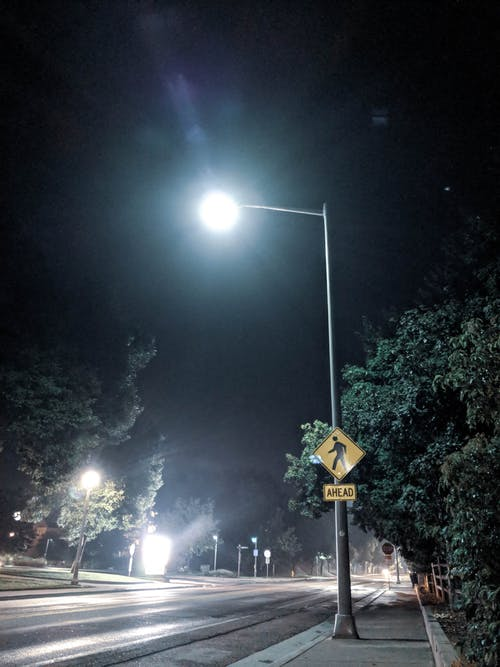 Free stock photo of lamp, night, street
