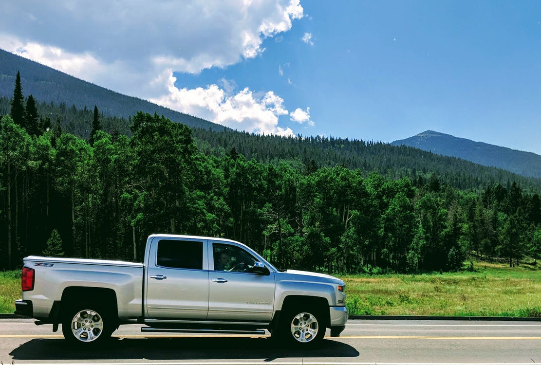 fjell, landskap, lastebil