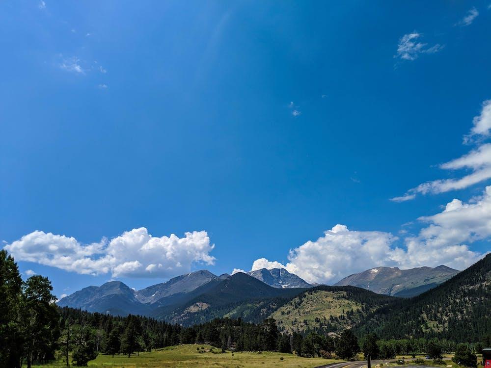 fjell, himmel, landskap