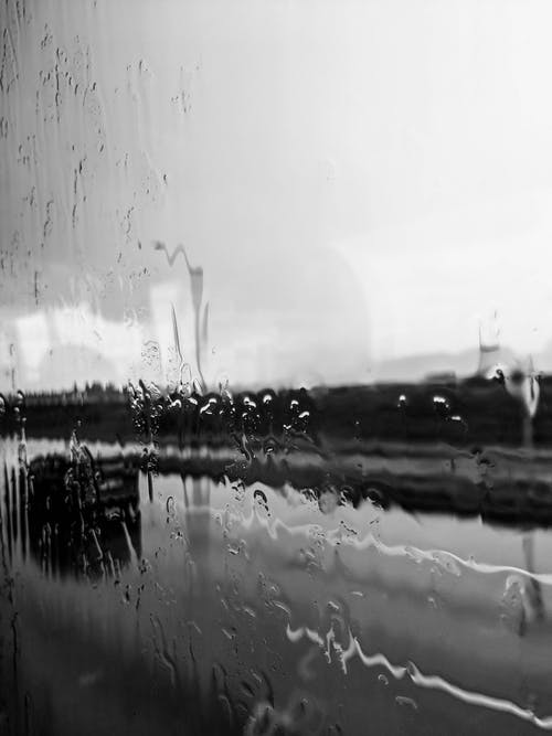 Free stock photo of landscape, rain, road, window