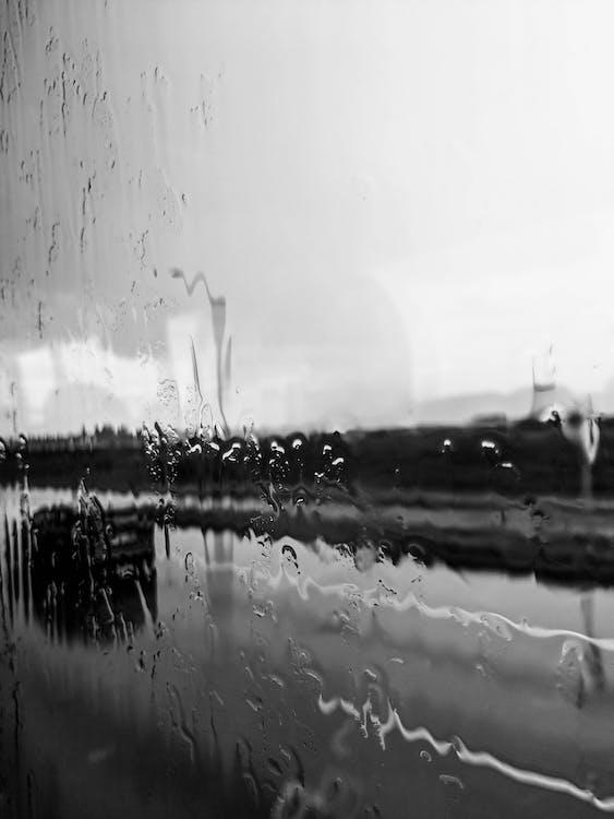 дождь, дорога, окно